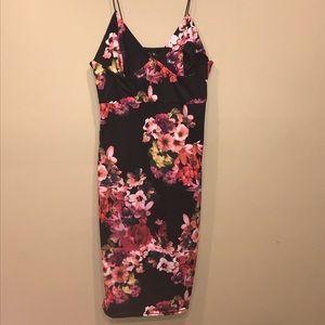 Strappy floral mini /midi dress